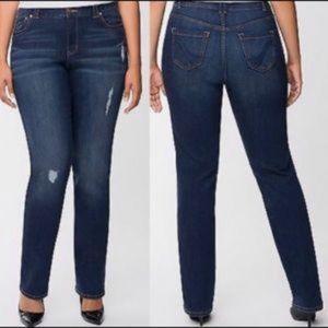 LANE BRYANT Genius Fit Straight Leg Jeans - 18 Ave